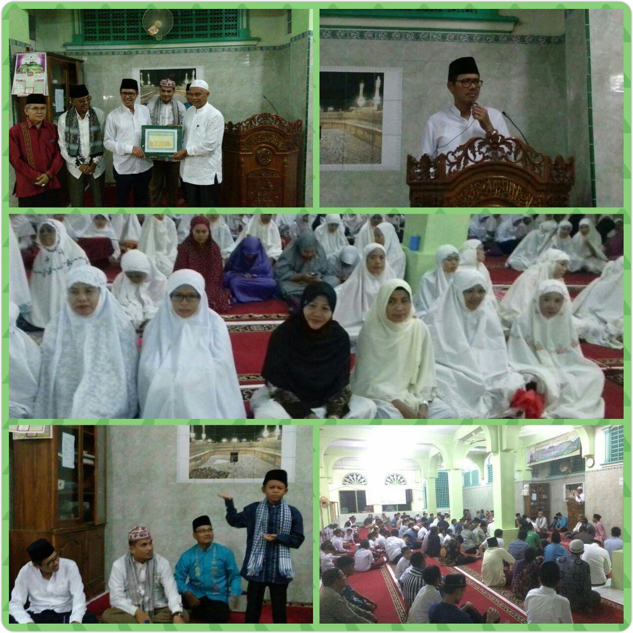 Tim Safari Ramadhan Provinsi Sumatera Barat sambangi Masjid Raya Baiturrahman, Lubuk Lintah