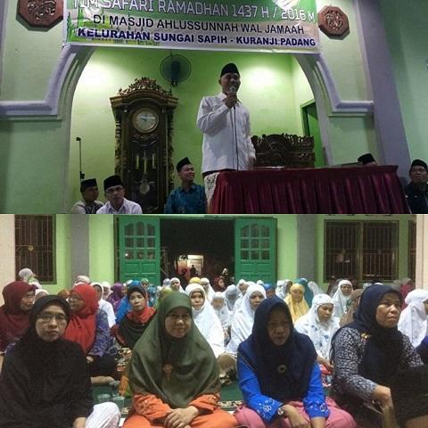 Paska Banjir, Walikota Padang dan Rombongan Sambangi Masjid Ahlussunnah Wal Jamaah