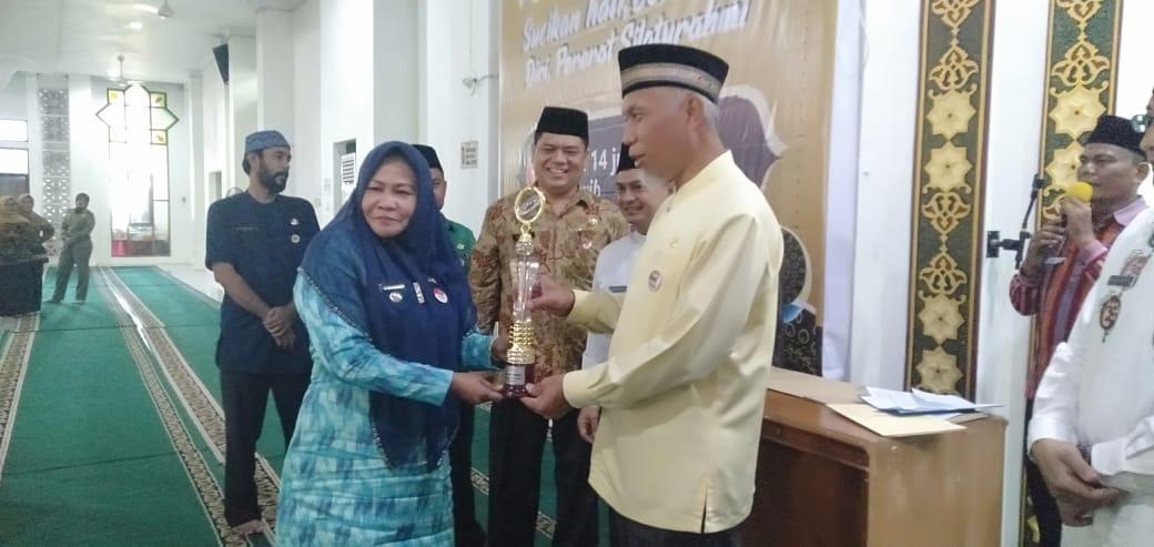 Kuranji terbaik I pawai takbiran 1440 H dan terbaik III Pelaksana Pesantren Ramadhan Tahun 2019