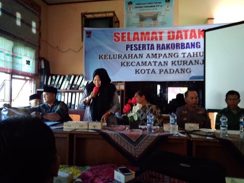 Rakorbang Kuranji 2019 di Kelurahan Ampang