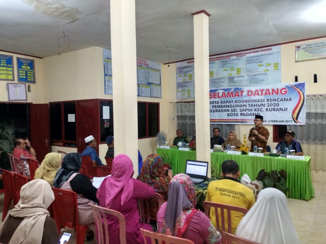 Rakorbang Kuranji 2019 di Kelurahan Sungai Sapih